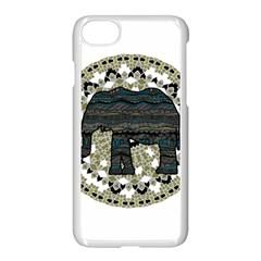 Ornate Mandala Elephant  Apple Iphone 7 Seamless Case (white) by Valentinaart