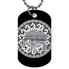 Ornate Mandala Elephant  Dog Tag (two Sides) by Valentinaart