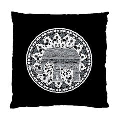 Ornate Mandala Elephant  Standard Cushion Case (one Side) by Valentinaart