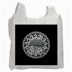 Ornate Mandala Elephant  Recycle Bag (one Side) by Valentinaart