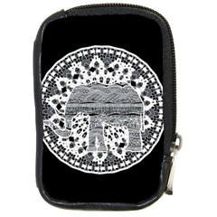 Ornate Mandala Elephant  Compact Camera Cases by Valentinaart