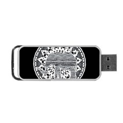 Ornate Mandala Elephant  Portable Usb Flash (one Side) by Valentinaart
