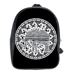 Ornate Mandala Elephant  School Bags (xl)  by Valentinaart