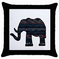 Ornate Mandala Elephant  Throw Pillow Case (black) by Valentinaart