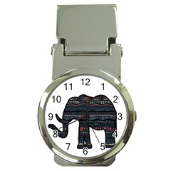 Ornate Mandala Elephant  Money Clip Watches by Valentinaart