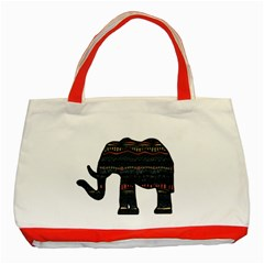 Ornate Mandala Elephant  Classic Tote Bag (red) by Valentinaart