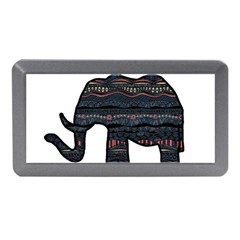 Ornate Mandala Elephant  Memory Card Reader (mini) by Valentinaart