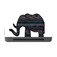 Ornate Mandala Elephant  Memory Card Reader With Cf by Valentinaart