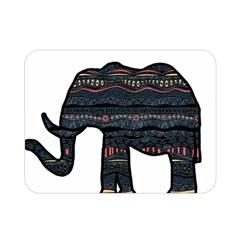 Ornate Mandala Elephant  Double Sided Flano Blanket (mini)  by Valentinaart