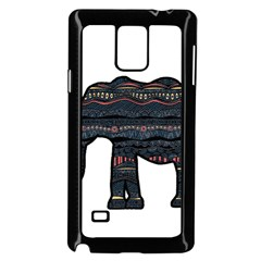 Ornate Mandala Elephant  Samsung Galaxy Note 4 Case (black) by Valentinaart