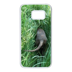 Weim In The Grass Samsung Galaxy S7 White Seamless Case by TailWags