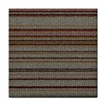 Stripy Knitted Wool Fabric Texture Tile Coasters