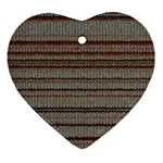 Stripy Knitted Wool Fabric Texture Ornament (Heart)