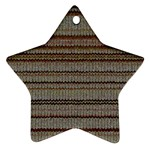 Stripy Knitted Wool Fabric Texture Ornament (Star)