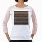 Stripy Knitted Wool Fabric Texture Girly Raglans