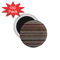 Stripy Knitted Wool Fabric Texture 1 75  Magnets (100 Pack)  by BangZart