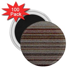 Stripy Knitted Wool Fabric Texture 2 25  Magnets (100 Pack)  by BangZart