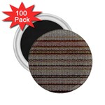 Stripy Knitted Wool Fabric Texture 2.25  Magnets (100 pack)