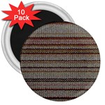 Stripy Knitted Wool Fabric Texture 3  Magnets (10 pack)