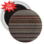 Stripy Knitted Wool Fabric Texture 3  Magnets (100 pack)
