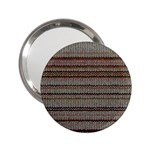 Stripy Knitted Wool Fabric Texture 2.25  Handbag Mirrors