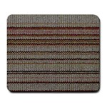 Stripy Knitted Wool Fabric Texture Large Mousepads