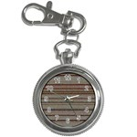 Stripy Knitted Wool Fabric Texture Key Chain Watches