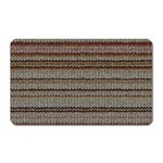 Stripy Knitted Wool Fabric Texture Magnet (Rectangular)