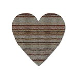Stripy Knitted Wool Fabric Texture Heart Magnet
