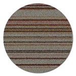 Stripy Knitted Wool Fabric Texture Magnet 5  (Round)