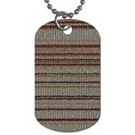 Stripy Knitted Wool Fabric Texture Dog Tag (Two Sides)