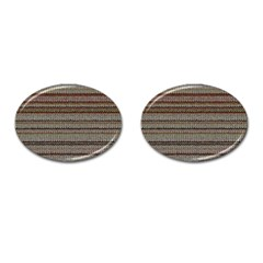 Stripy Knitted Wool Fabric Texture Cufflinks (oval) by BangZart