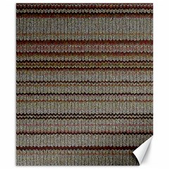 Stripy Knitted Wool Fabric Texture Canvas 8  X 10  by BangZart