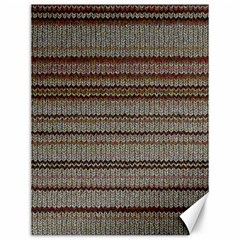 Stripy Knitted Wool Fabric Texture Canvas 12  X 16   by BangZart
