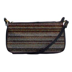 Stripy Knitted Wool Fabric Texture Shoulder Clutch Bags by BangZart