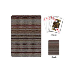Stripy Knitted Wool Fabric Texture Playing Cards (mini)