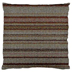 Stripy Knitted Wool Fabric Texture Large Cushion Case (two Sides) by BangZart