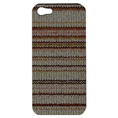 Stripy Knitted Wool Fabric Texture Apple Iphone 5 Hardshell Case
