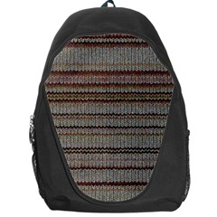 Stripy Knitted Wool Fabric Texture Backpack Bag by BangZart