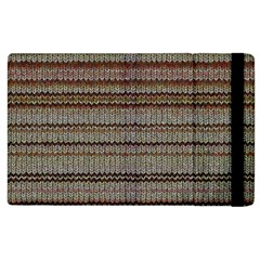 Stripy Knitted Wool Fabric Texture Apple Ipad 3/4 Flip Case by BangZart