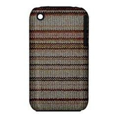 Stripy Knitted Wool Fabric Texture Iphone 3s/3gs by BangZart