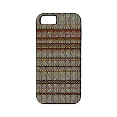 Stripy Knitted Wool Fabric Texture Apple Iphone 5 Classic Hardshell Case (pc+silicone) by BangZart