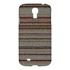 Stripy Knitted Wool Fabric Texture Samsung Galaxy S4 I9500/i9505 Hardshell Case