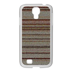 Stripy Knitted Wool Fabric Texture Samsung Galaxy S4 I9500/ I9505 Case (white) by BangZart