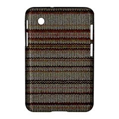 Stripy Knitted Wool Fabric Texture Samsung Galaxy Tab 2 (7 ) P3100 Hardshell Case