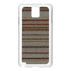 Stripy Knitted Wool Fabric Texture Samsung Galaxy Note 3 N9005 Case (white) by BangZart