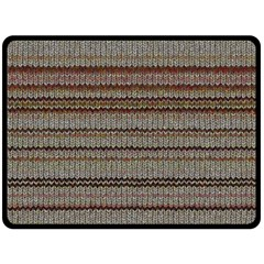 Stripy Knitted Wool Fabric Texture Double Sided Fleece Blanket (large)  by BangZart