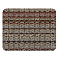 Stripy Knitted Wool Fabric Texture Double Sided Flano Blanket (large)  by BangZart