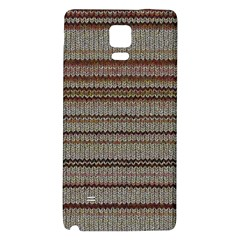 Stripy Knitted Wool Fabric Texture Galaxy Note 4 Back Case