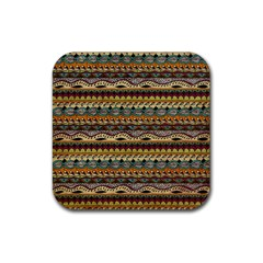 Aztec Pattern Rubber Square Coaster (4 Pack)  by BangZart